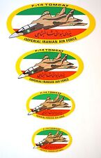 VINTAGE GENUINE LOT OF GRUMMAN F-14 TOMCAT IRANIAN AIR FORCE STICKER / DECAL
