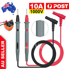 Digital Multimeter Probe Test Leads Pin Tester Probe Wire Pen Cable 1000V 10A