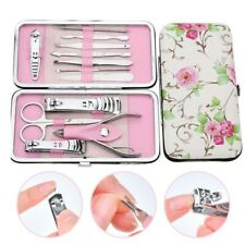 New 12pcs Nail Care Cutter Cuticle Clippers Mini Pedicure Manicure Tool Kit Set