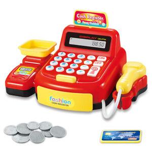 Supermarket Till Kids Cash Register Toy Gift Set Child Boys Shop Role Play Learn
