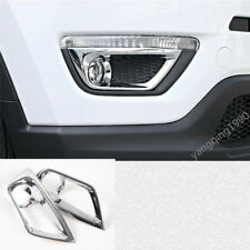 ABS Chrome Front Fog Light Lamp Bezel Cover Trim FOR Jeep Compass 2017 2018