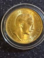 1895 Wilhelm II 20 Mark Gold Coin , German States- Prussia, Berlin Mint 7.96 Gm.