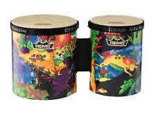 Remo Kids Percussion Bongo Drums, Rain Forest