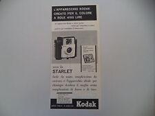 advertising Pubblicità 1960 KODAK STARLET