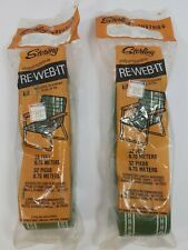 2 Packages Sterling Re-Web-It Kits 32 ft Each Green w/ White Stripes Lawnchair