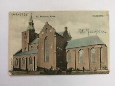 Randers Denmark Vintage colour Postcard 1905 St Mortens Kirke
