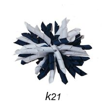 Korker (#K21) Navy/White Swirl Hair/Shoe Bow Great for our Clip On Squeaky Shoes