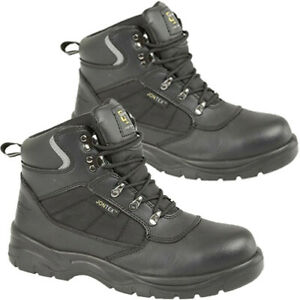 Mens Womens Grafters Safety Boots Steel Toe Cap Waterproof Ankle Work Boot Shoes