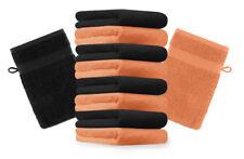 """10er Pack Waschhandschuhe """"Premium"""" Farbe: Orange & Schwarz, Größe: 17x21 cm"""