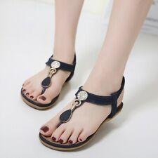 Summer Women's Boho Slingbacks Sandals Flip Flops Casual Beach Shoes US 4.5-10