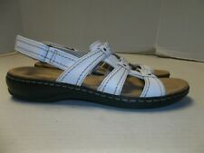 Womens Size 9N Clarks Collection White Slingback Sandals