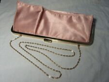 Vintage Pink Silk EVENING or WEDDING Clutch Bag or Shoulder Bag