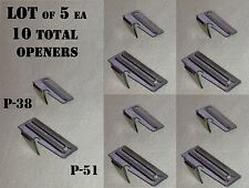 CAMPING CAN OPENER KEY CHAIN P-51 P-38 MILITARY US SHELBY CO USGI 5 EA SET of 10