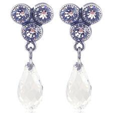 Ohrringe mit kristallen Von Swarovski Silber nobel schmuck