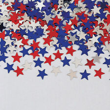 Red White & Blue Foil Stars Table Confetti Sprinkles USA Celebration 4th July