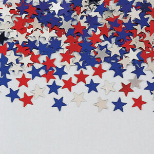 Foil Stars Table Confetti Sprinkles USA Celebration 4th July Patriotic Britain