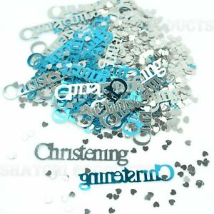 1 Pack Christening Baby Boy Blue Confetti Table Decorations Party Scatter Glitz