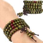 Lucky Prayer Buddhist Meditation Sandalwood Mala Wooden Beads Bracelet/Necklace