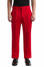 Versace Men's Red 100% Wool Dress Pants US 32 IT 48
