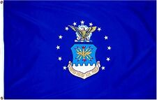 U.S. Air Force Double Sided Embroidered 3'X5' Flag With Grommets Brand New