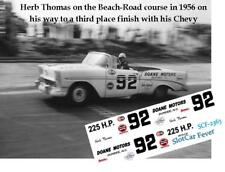 CD_2363 #92 Herb Thomas 1956 Chevy Convertible   1:64 Scale Decals