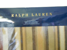 Ralph Lauren Bellosguardo Stripe Full Queen Cotton Blanket Beige Rust Brown New