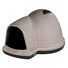 Petmate Indigo Dog House with Microban, Medium 25-50 Lbs Animal Heavy Duty Taupe