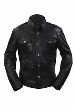 Infinity Men's Casual 100 Sheepskin Black Nappa Leather Slim Fit Jacket M