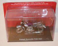 IXO - TRIUMPH T120 BONNEVILLE (1967) Purple - Motorcycle Model Scale 1:24