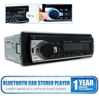 1-Din In-Dash Car Radio Bluetooth Stereo Head Unit MP3/USB/SD/ AUX-IN/ FM Player