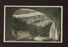 Norway BERGEN Floibanen Railway passing cars c1920/30s? RP PPC