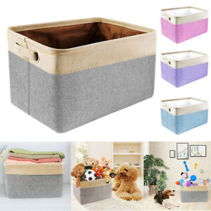 Pet Dog Toy Boxes Basket Storage Bins Puppy Cat Accessory Carrier Foldable Bag