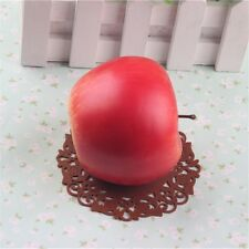3 pcs Red Apples Artificial Fruit Faux Apple Theater Staging Props Decorations
