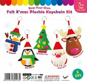 Christmas Felt Sewing Craft Kit (Choose From listing) Makes 1 or Pack 5