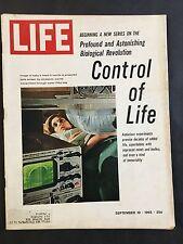 Life Magazine September 10 1965 Control of Life