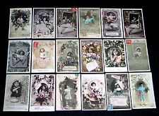 LOT C88 : 18 CPA JOLI DECOR ENFANT FILLETTE GARCON KID BOY LITTLE GIRL MODE 1900