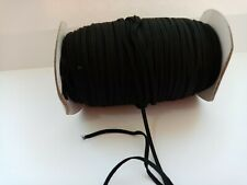 10 Metres Black Flat Elastic Cord (3mm or 5mm) Black Stretch Elastic for Sewing