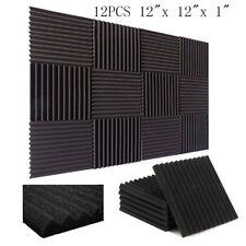 12 Pack- Acoustic Panels foam Engineering sponge Wedges Soundproofing Panels