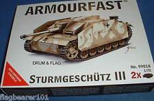 "Armourfast 99018. STURMGESCHUTZ ""PANZER"" III. 1:72 SCALA WW2 Tedesco"