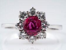 Vintage anillo brillante rubin 750 oro IGI expertise