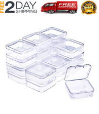 20 Pack Small Rectangle Clear Plastic Box Bead Storage Box with Flip Cover Best