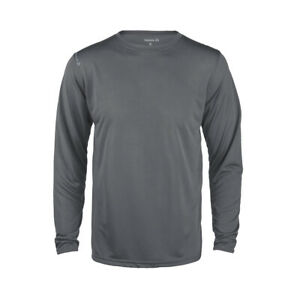 Reebok Mens Poly Wick dri-fit Tee Work out Gym S-5XL Long Sleeve Sport T-shirt