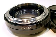 Focal Reducer Lens Booster Adapter CANON FD to Sony And mount α6300 α6500