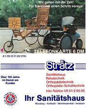 Telefonkarte Sanitätshaus Strätz 6 DM  - Auflage: 500 Stück rare Phone Card