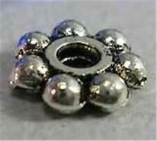 "150 Tibetan Style Spacer Beads  "" Snowflake / Daisy "" Silver colour - 4mm"