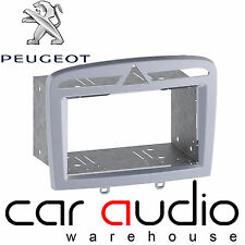 Peugeot 308 2007 Car Stereo Double Din Fascia Facia Panel Warm Silver CT23PE10