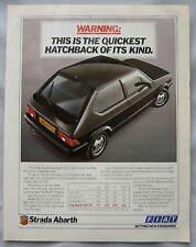 1984 Fiat Strada Abarth Original advert