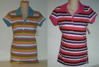 Womens AEROPOSTALE Striped Jersey Polo Shirt NWT #8705-1