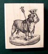 P34 Bulldog rubber stamp Wood Mounted Royalty