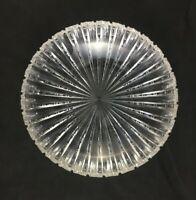"""🔷 Antique ABP Brilliant Cut Glass PRISM Notched Miter  9 3/4"""" x 2 3/4"""" Bowl"""